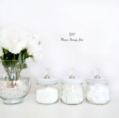DIY Mason Storage Jars