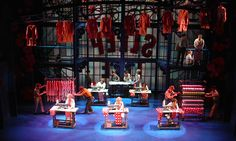 The Pajama Game.Scenic design by Derek McLane.