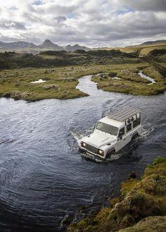 Lakagigar Iceland - river crossing.