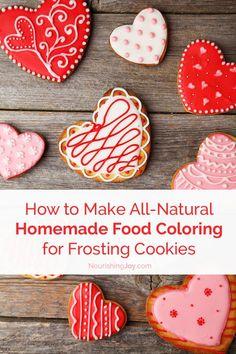 How To Make Bright Natural Food Coloring | Natural food coloring ...