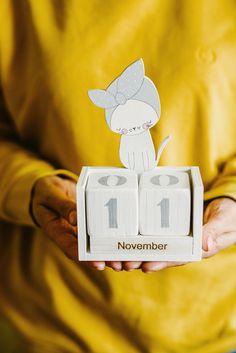 Perpetual Calendar Wood Block with White Kitty, Cat Lovers Gift, Cute Cat Nursery Kids Room decor, Desk Office Calendar, crazy cat lady Block Calendar, Office Calendar, Calendar Calendar, Cat Lover Gifts, Cat Gifts, Cat Lovers, Crazy Cat Lady, Crazy Cats, Wooden Calendar