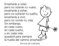 teresa de calcuta Quotes About God, Kids Education, Picture Quotes, Wise Words, Thoughts, Comics, Reading, My Love, Memes