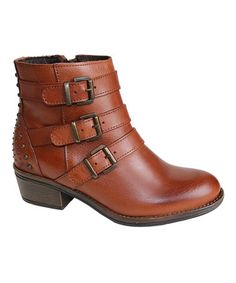 Look what I found on #zulily! Tan Sparta Leather Ankle Boot by Eric Michael by Laurevan #zulilyfinds
