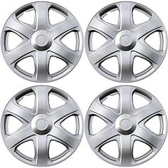 "Hubcaps for Toyota Matrix Set of 4 Pack 16"" Inch Silver , OEM Genuine Factory Replacement - Easy Snap On - Aftermarket Wheel Covers"