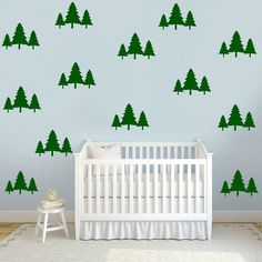 Tree Decal Pine Tree Wall Decal Woodland by TheSlumberJackBaby
