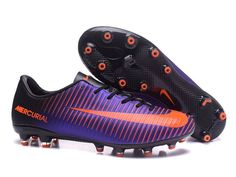 3ce63bb7b NIke Mercurial Vapor Superfly AG Black   Purple Soccer Cleats Football Shoes