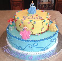 Disney Princess Cake Cake Birthdays and Birthday cakes