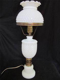 VIntage Milk GLass Lamp GWTW Style