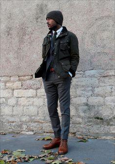 mypantalones:    Waxed Cotton Jacket from Hackett
