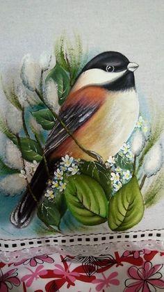 vintage bird illustration with white flowers One Stroke Painting, Thread Painting, Tole Painting, Fabric Painting, Batik Art, Bird Art, Beautiful Birds, Rock Art, Painting Inspiration