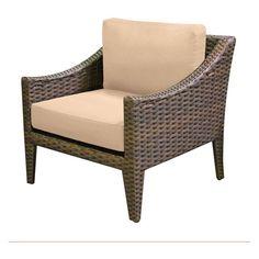 TK Classics Manhattan Wicker Outdoor Club Chair - Set of 2 Cushion Covers Sesame - TKC035B-CC-SESAME