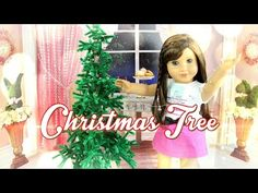 American Girl Dolls : How to Make a Doll Christmas Tree for American Girl and other size dolls Easy Christmas Barbie, Mini Christmas Tree, American Girl Accessories, Doll Accessories, American Girl Wellie Wishers, American Girl Diy, Diy Upcycling, Girl Dolls, Ag Dolls