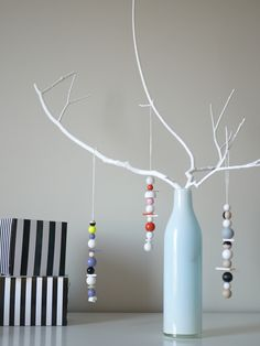 .Small simple plastic ornaments - maybe intermix random plastic bits of things