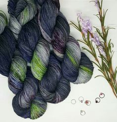 """Orbital""; Hand dyed yarn, indie dye, sock yarn. Lambstrings.etsy.com Yarn Inspiration, Sock Yarn, Hand Dyed Yarn, Knitting Socks, Indie, Wool, Crocheting, Craft Supplies, Etsy"