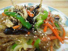 Vegan Korean Japchae noodles from Alien's Day Out blog