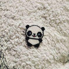 Tissage du moment! #perlesmiyuki #panda #modelemilleka #jenfiledesperlesetjassume #brickstitch