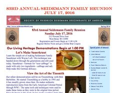 Seidemann Family Reunion 2016 invitation