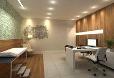 A arquiteta Pricila Dalzochio projetou este consultório médico no Cube³ Office em tons de madeira e verde que além de proporcionar aconchego, transmitem tranquilidade e segurança ao paciente. www.priciladalzochio.com.br