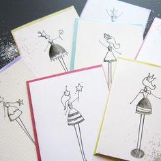 Princess Pack Stationery, Set of 8 Blank Notecards- LOinLONDON® fine paper goods + whimsical design | www.loinlondon.com