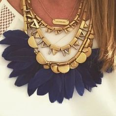 Cute Gold Plume Feather Necklace for Women   Stella & Dot