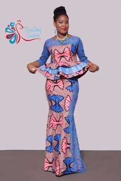 African fashion dresses - Latest Ankara Skirt And Blouse 2019 25 newest and stunning Ankara skirt and blouse styles to try out Correct Kid African Wear Dresses, Latest African Fashion Dresses, African Print Fashion, African Attire, Ankara Rock, Ankara Skirt And Blouse, Ankara Dress, Blouse Dress, African Blouses