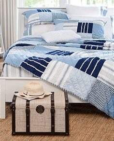 Large blocks with the right fabrics make a great looking quilt.