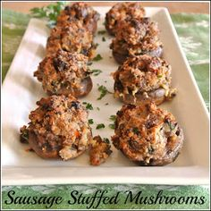 Gourmet Cooking For Two: Sausage Stuffed Mushrooms