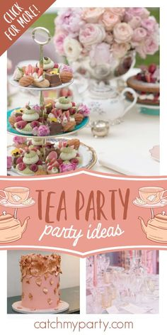 Don't miss this beautiful tea party! The floral decorations are magical! See more party ideas and share yours at CatchMyParty.com #catchmyparty #partyideas #gardenparty #rusticparty #teaparty #floralparty #girlbirthdayparty Girls Tea Party, Tea Party Theme, Princess Tea Party, Tea Parties, Party Drinks, Ladies Party, Cocktails, Birthday Parties, Christmas Tea Party