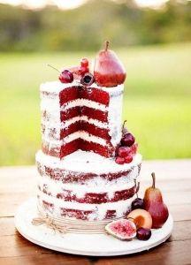 pastel de boda naked