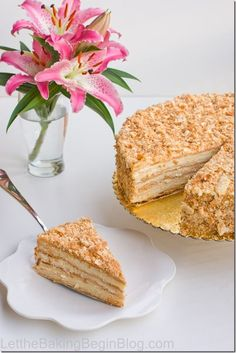 The Napoleon cake comes out soft, moist and delicious! Make the puff pastry at home with my quick puff pastry method. This is the Best Napoleon Cake Ever! Russian Cakes, Russian Desserts, Russian Recipes, Sweet Recipes, Cake Recipes, Dessert Recipes, Cupcakes, Cupcake Cakes, Just Desserts