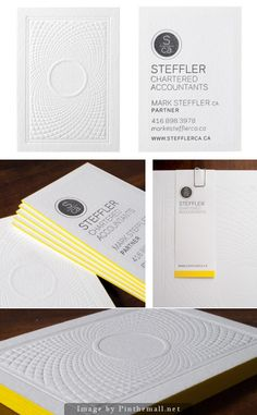 Steffler Chartered Accountants Letterpress Business Cards by Chad Roberts Design