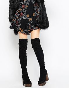 Truffle+Collection+Trina+Platform+Over+The+Knee+Boots