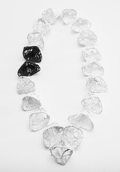 Myung Urso Neckpiece: Winter Breath, 2013 Cotton, Gesso, Sterling silver 15 x 61 x 7 cm (view 2)