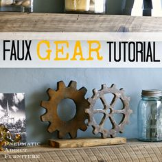 Pneumatic Addict Furniture: Faux Gear Tutorial