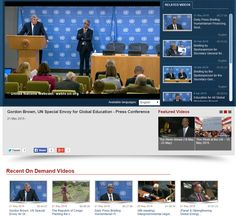 Gordon Brown, United Nations, Conference, Language, English, Education, Videos, Languages, English Language