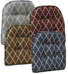 Gripper Nonslip Trellis Chair Pad, in Gray Plow & Hearth Kitchen Chair Cushions, Slipcovers For Chairs, Kitchen Chairs, Dining Room Chairs, Home Furniture, Furniture Design, Trellis Pattern, Parsons Chairs, Chair Pads