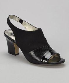 Look at this #zulilyfind! Black Uliana Sandal by Anne Klein #zulilyfinds