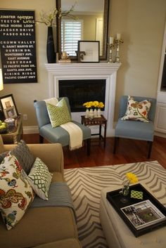 Living Room Decorating Ideas on a Budget - Living room color scheme with Wilmington Covington floral