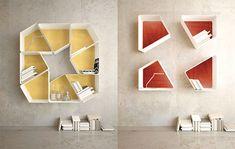 mensole componibili kambiam trap Design Theory, Storage Design, Architect Design, Cabinet Design, Home Organization, Room Interior, Wood Art, Interior Decorating, Interior Design