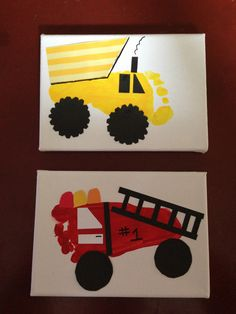 Truck footprints for little mans transportation big boy room!