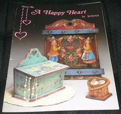 Paint Me A Happy Heart Jo Sonja Decorative Folk Art Tole Painting Book ...