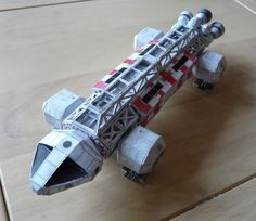Space: 1999 - Eagle Transporter Ver.3 Free Paper Model Download - http://www.papercraftsquare.com/space-1999-eagle-transporter-ver-3-free-paper-model-download.html#EagleTransporter, #Space1999, #Transporter