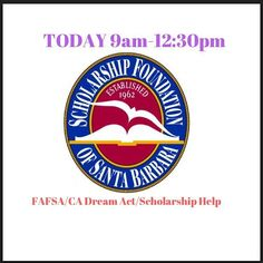 Scholarship foundation of SB is at the college & career center today 9am-12:30!!