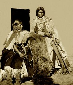 Jicarilla Apache brave and his wife. Abiquiu Agency, New Mexico. Photo: 1874. Part of Explorations in Nevada, Colorado, Arizona, and New Mexico and the Colorado River.
