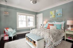 Small room paint ideas small bedroom paint colors grey paint color for small bedroom ideas with . Small Bedroom Colours, Bedroom Paint Colors, Feminine Bedroom, Room Colors, Benjamin Moore Beach Glass, Home Bedroom, Bedroom Decor, Bedroom Ideas, Bedroom Inspiration