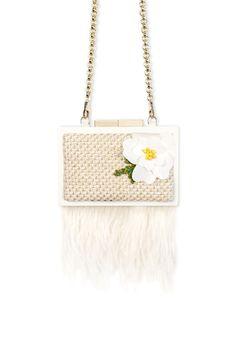 #bag #cluch #wood #fashion #spring #summer #luxury #accessories #LAURAFED #bride #wedding #white #flower