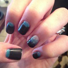 My own Carolina panther nails!!!