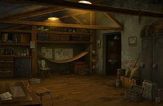 """Lost Horizon"" game backgrounds- part 1, Olga Antonenko on ArtStation at https://www.artstation.com/artwork/YJDWP"