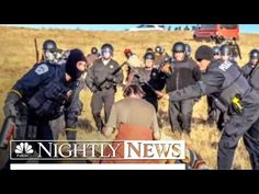 Police Clad In Riot Gear Move In On Dakota Access Pipeline Protesters | NBC Nightly News - YouTube