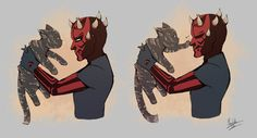 The ultimate showdown! What if Maul encountered an Earth feline? My deviantart: http://bluestripedrenulian.deviantart.com/